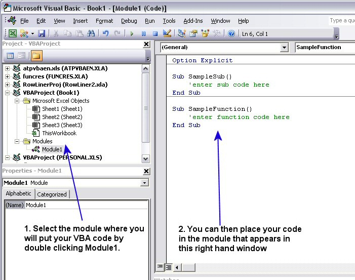 VBA Code Window