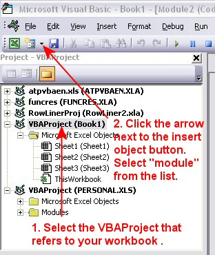 VBA Project Window